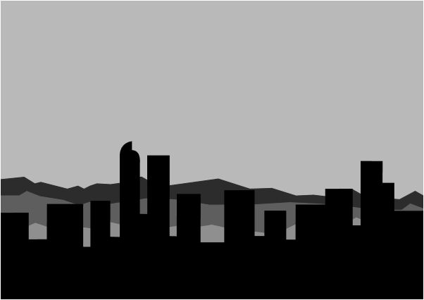 Drawn skyline famous Street Skyline Art  Denver