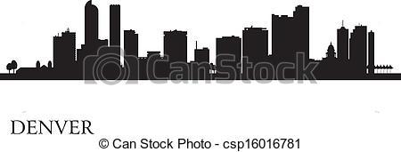 Denver clipart Denver of Denver skyline