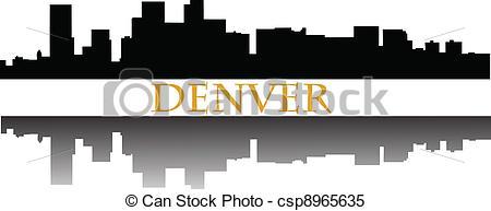 Denver clipart Denver  Denver csp8965635 skyline