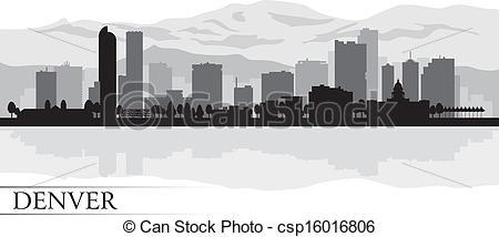 Denver clipart Denver background Vector skyline Clipart