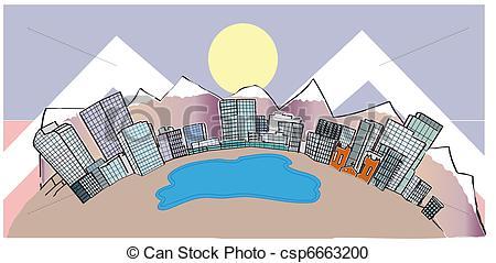 Denver clipart Mountain Clipart Denver Vector MIle Denver downtown