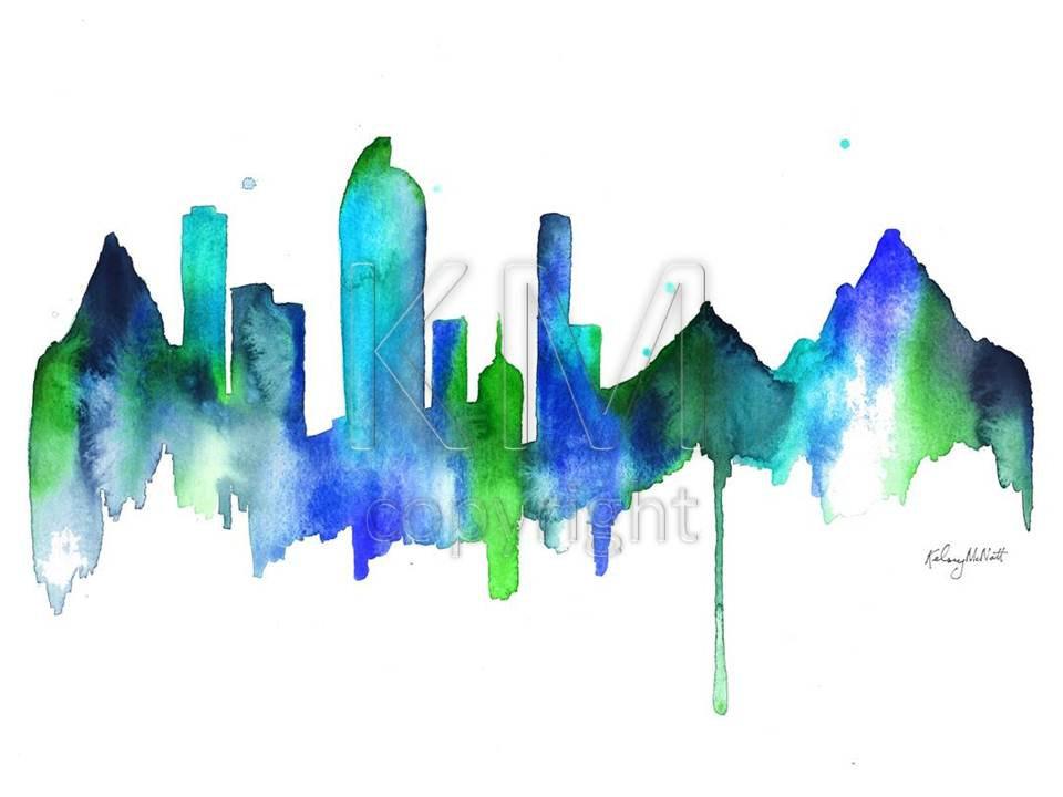 Denver clipart Mountain Clipart Skyline Art denver skyline Clip