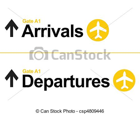 Departure clipart arrival Airport of csp4809446  isolated