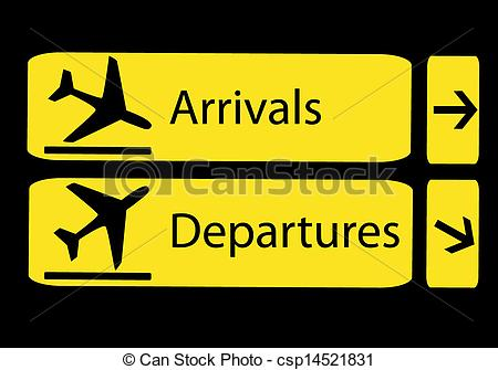Departure clipart arrival Arrivals and csp14521831  and