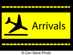 Departure clipart arrival Illustration Toilet at the airport;