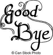 Departure clipart bye bye Illustration posters lettering design Bye
