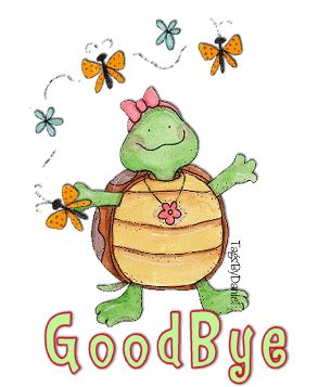 Departure clipart bye bye GoodBye on Graphics TURTLE images