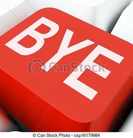 Departure clipart bye bye Means Stock Means Departing Or