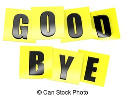 Departure clipart bye bye Means Or in Stock Farewell
