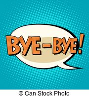 Departure clipart bye bye Stock Pop bye retro Images