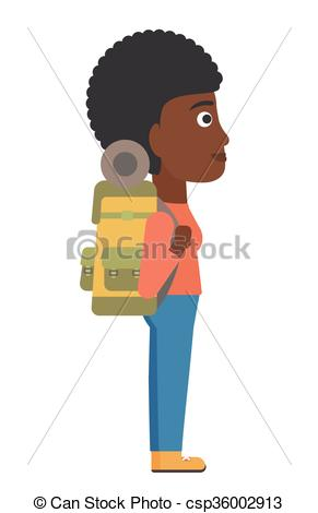 Departure clipart cartoon At  Woman Vector of