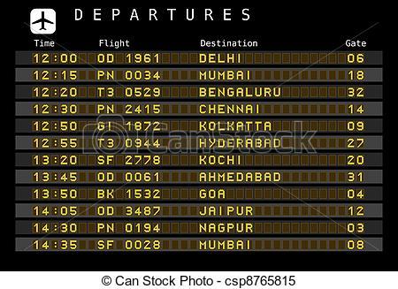Departure clipart destination  departures  Airport Vectors