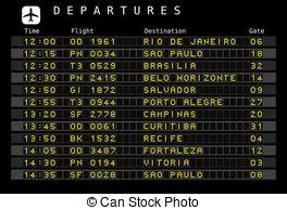 Departure clipart destination Timetable schedule  Airport art
