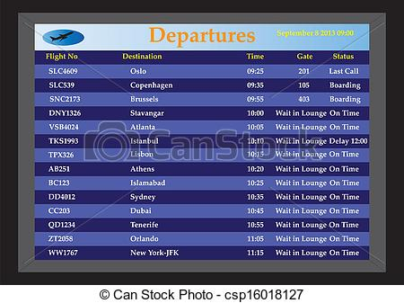 Departure clipart destination Csp16018127 Airport Departures Departures Departures
