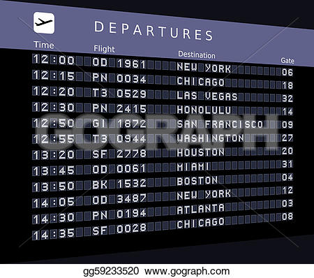 Departure clipart destination Honolulu Drawing francisco airports gg59233520