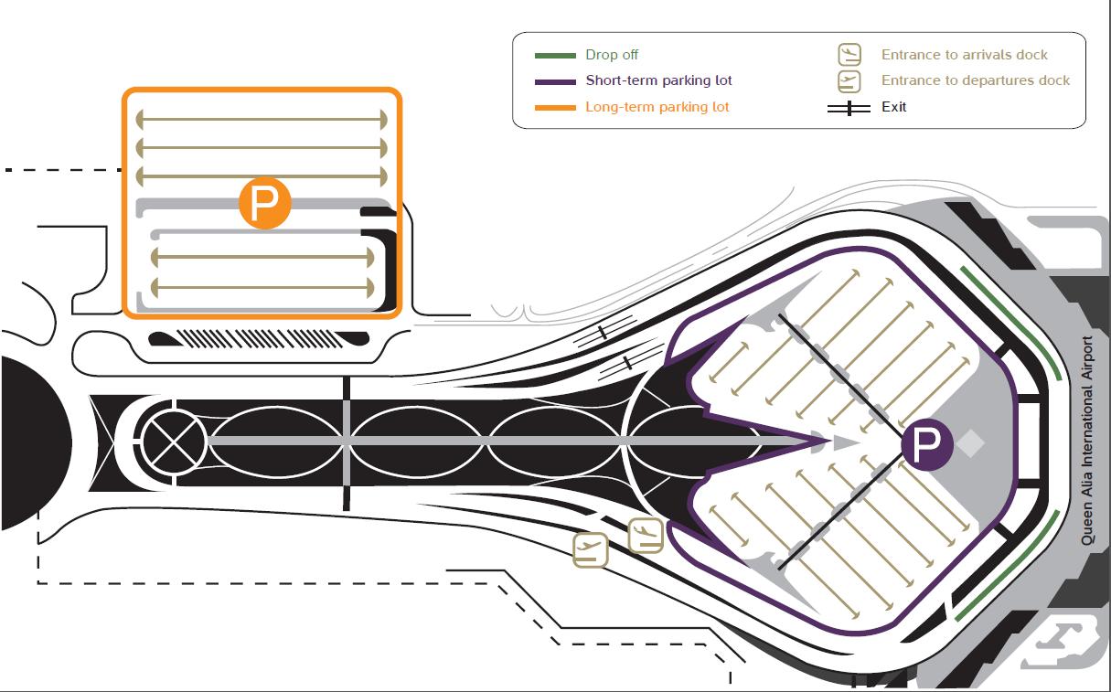 Departure clipart parking spot (QAIA) For Queen Airport Alia