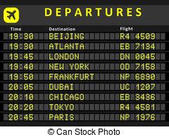 Departure clipart plane Airports Stock Departure destination