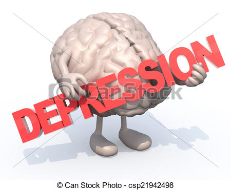 Depression clipart depressed boy A arts Illustration with