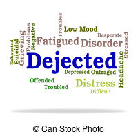 Depression clipart dejected Desolate Art Gloomy Word And