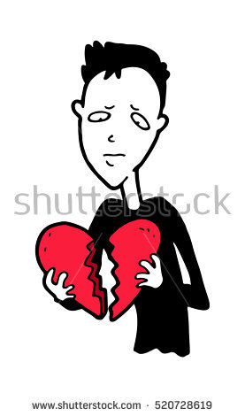 Depression clipart disappointed Cartoon Disappointed Isolated young collection