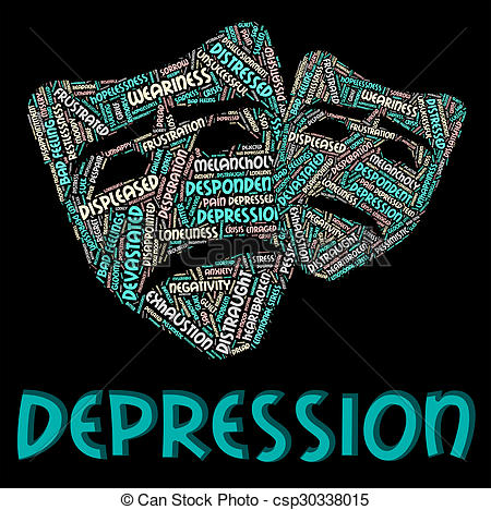 Depression clipart hopeless Depression Clipart And csp30338015 Text