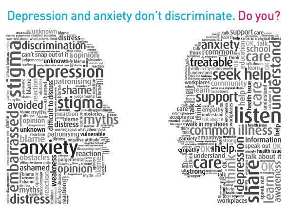 Depression clipart mental illness Images Attitudes clip infograph myths