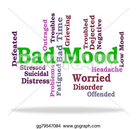 Depression clipart mood  words Illustration somber Shows