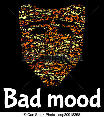 Depression clipart mood And Means Stock Mood Means
