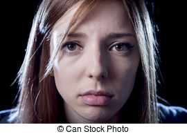 Depression clipart pain and suffering Stress and expression  girl