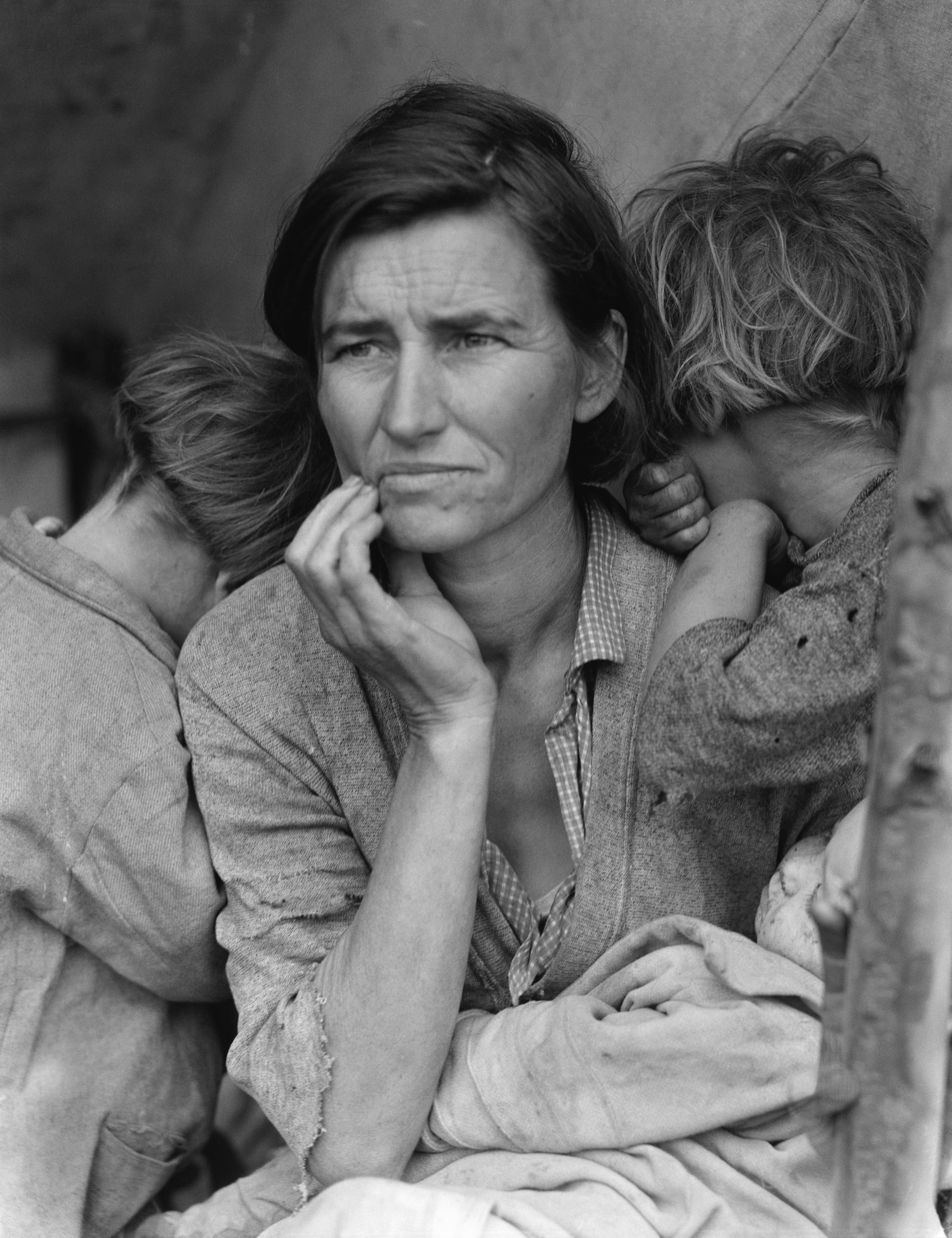 Depression clipart sad mother Wikipedia MigrantMother02 Mother Migrant Owens