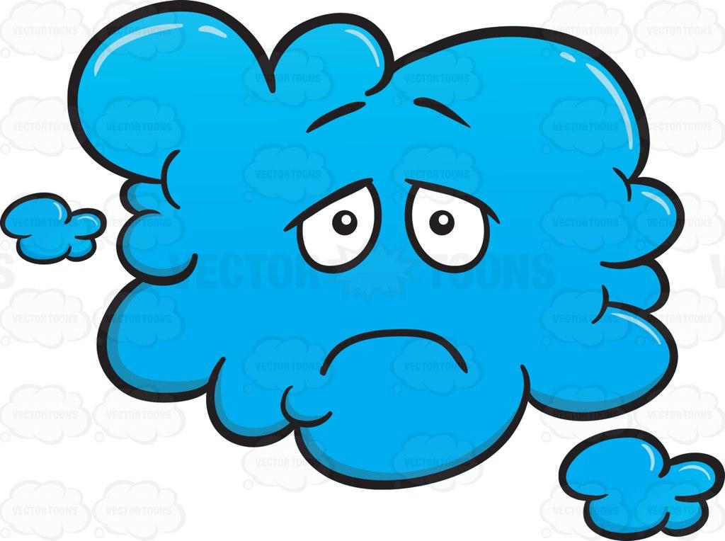 Clouds clipart depression Looking Emoji Sulky Depressed Cartoon