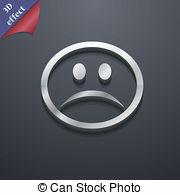 Depression clipart sympathy 3d Stock Illustration style design