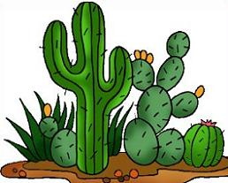 Desert clipart Free Clipart cactus desert and