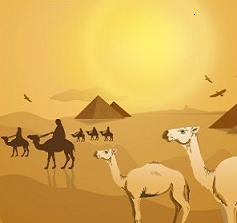 Desert clipart Free Clipart Camels desert and