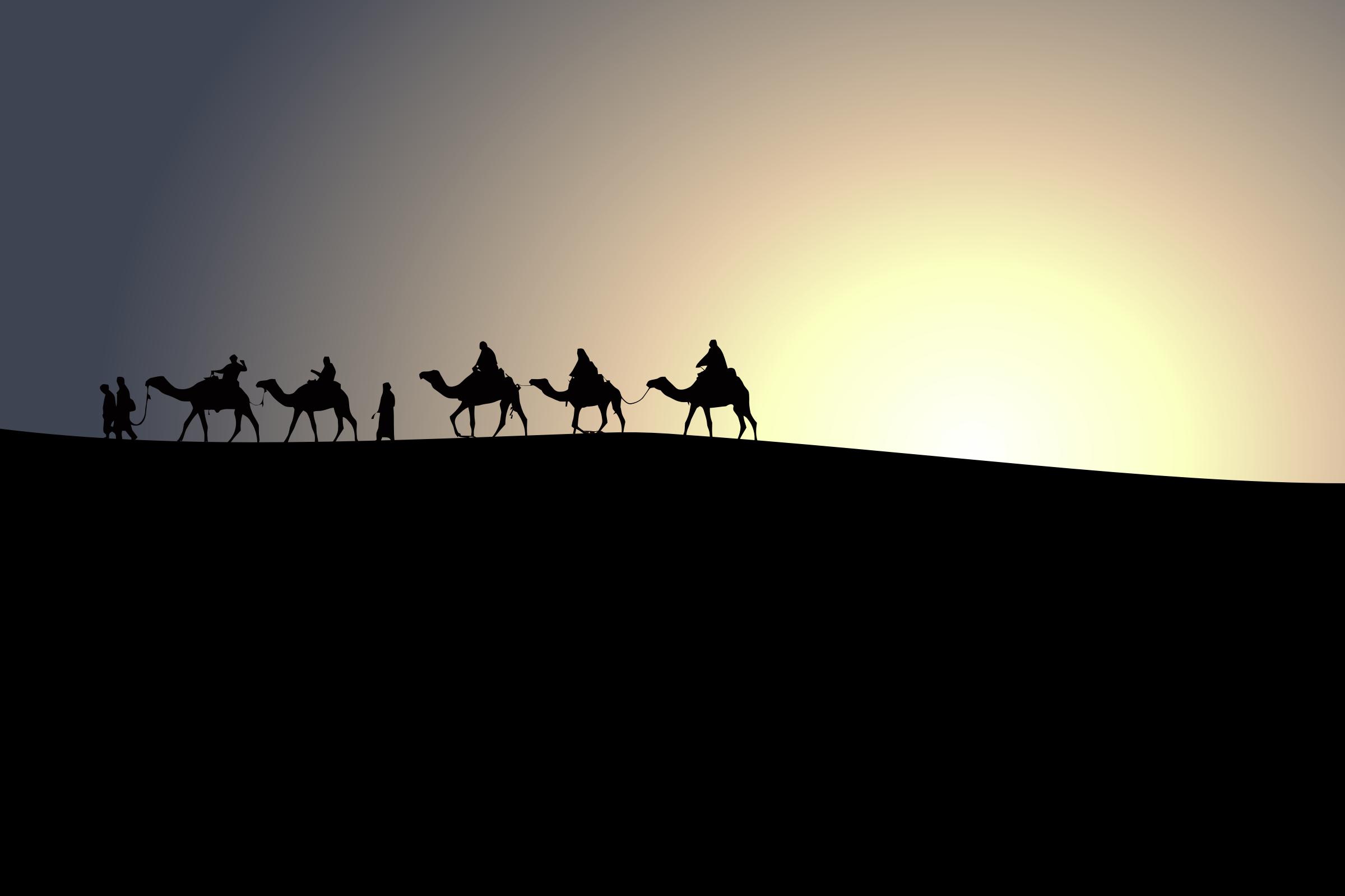 Camel Caravan clipart silhouette Camels Caravan Camels Caravan Clipart