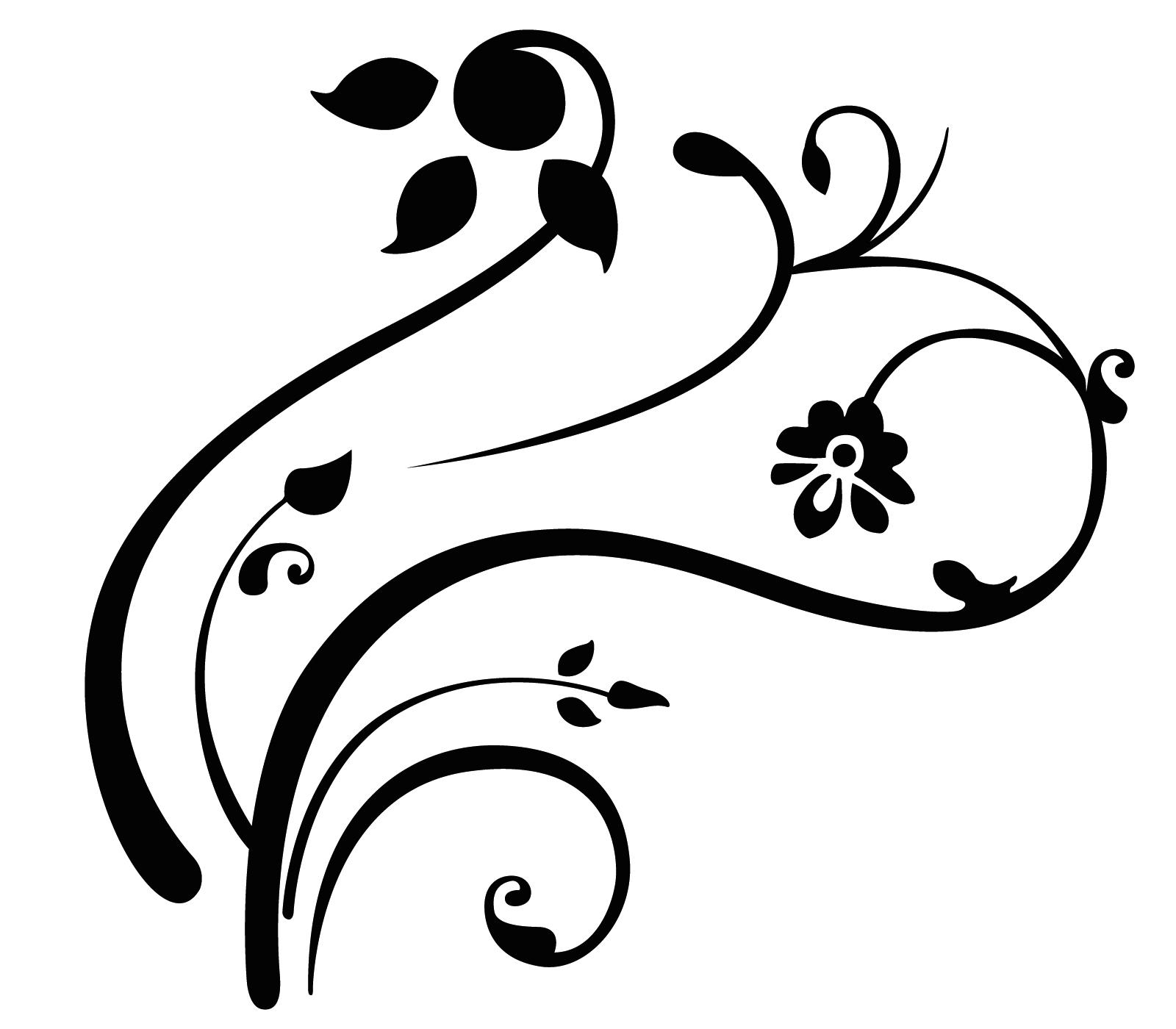 Swirl clipart black and white Free free art art clip