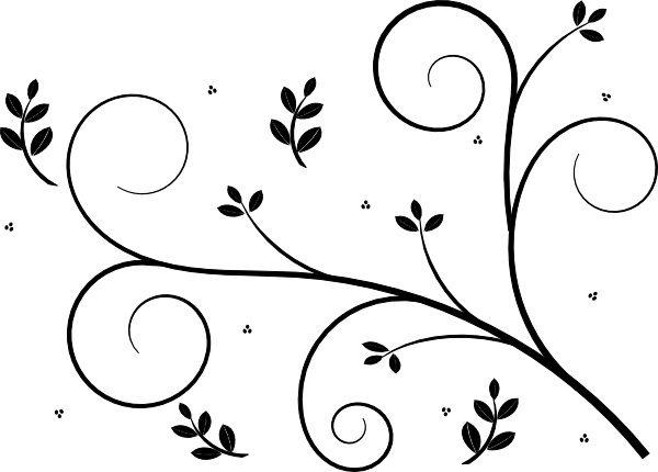 Simple clipart floral design #2
