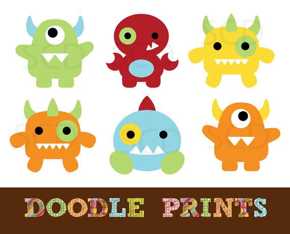 Monster clipart cute monster Art Personal Design clipart Clip