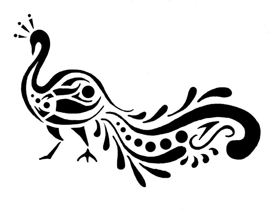 Peacock clipart desined Free Clipart Design on Black