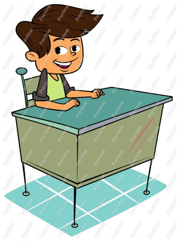 Desk clipart boy school At Art Boy Clipart School