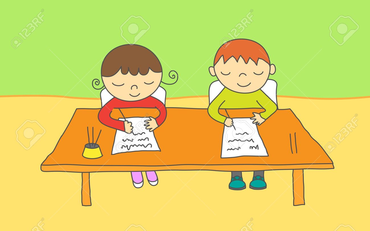 Desk clipart boy school At clipart school Writing desk