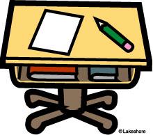 Desk clipart class  Classroom Desk Clipart