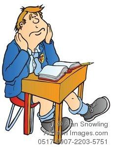 Desk clipart class Illustration School Boy Clipart at