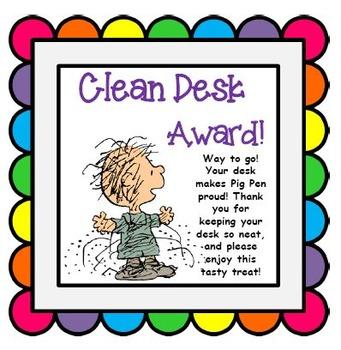 Desk clipart clean desk Desk desk Award to students