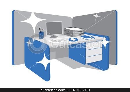 Desk clipart clean desk / Clean desk desk vector