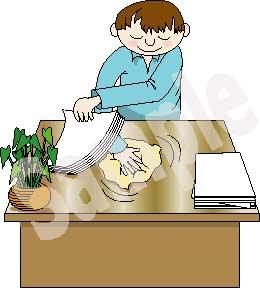 Desk clipart clean desk Clip Desk Wiping Art