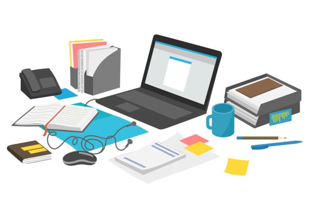 Desk clipart clean desk Clean Poster to Poster Desk