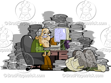 Desk clipart cluttered desk Desk a Clipart Cluttered Cluttered