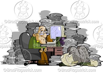 Desk clipart cluttered desk A Messy Man Clipart Desk