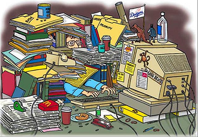 Desk clipart cluttered desk Kaku desk messy image Michio